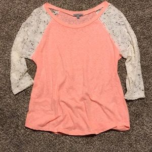 Coral & Lace Tee